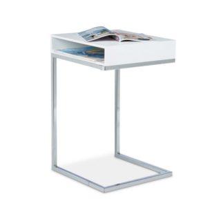 10020361_49 Tavolino con Piedistallo daper Soggiorno Legno Bianco