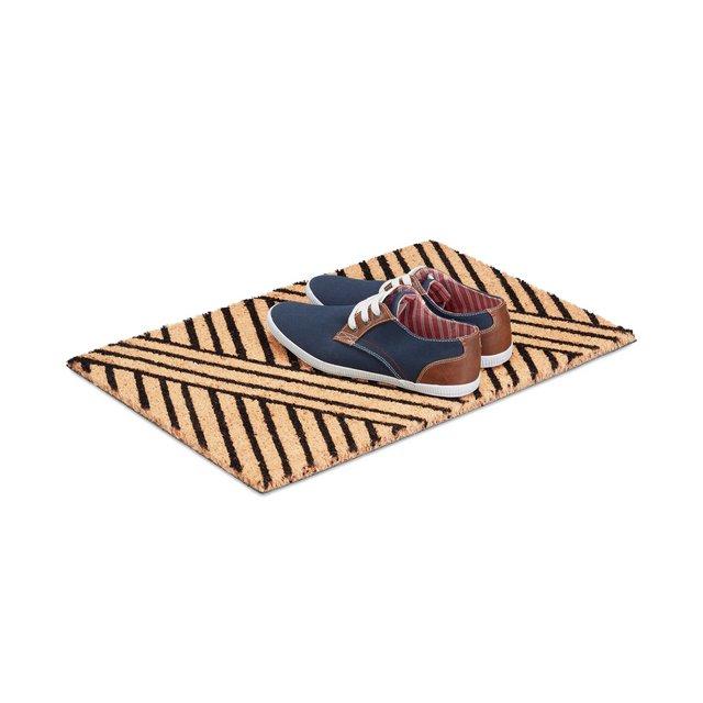 10021042 Tappeto Zerbino da Ingresso PVC Beige 50 x 65 cm