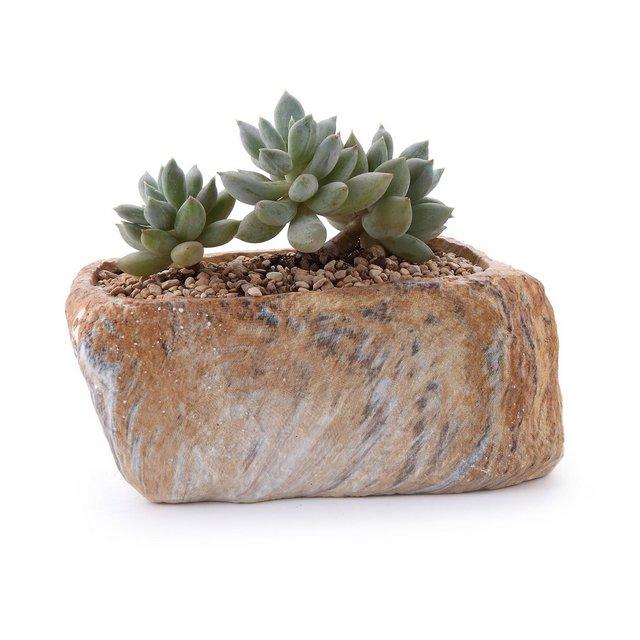 135CM Forma di Pietra distintiva Ceramica Vaso di Fiori Pianta Succulente Cactus Vaso di Fiori Giardino i vasi di Fiori vasi di Piante
