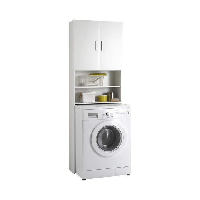 13Casa 913001 Mobile per Lavatrice Nobilitato Bianco 64 x 26 x 190 cm