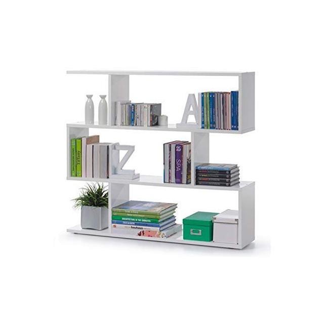 13Casa Kafka A5 Libreria Dim 110x25x97 h cm Col Bianco Mat Melami