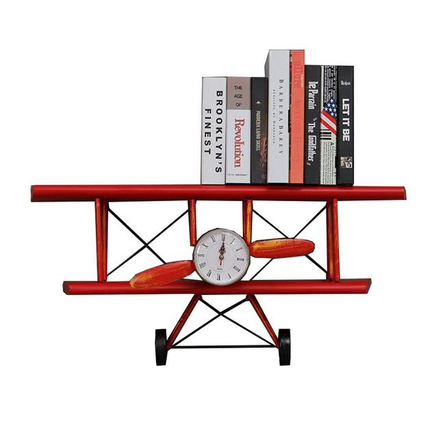 2 Strati Ferro Battuto Elica di Aeroplano Orologio da Parete American Loft Bar Home Decor Rack 80 × 27 × 385 Centimetri Ciondolo Decorativo Color B
