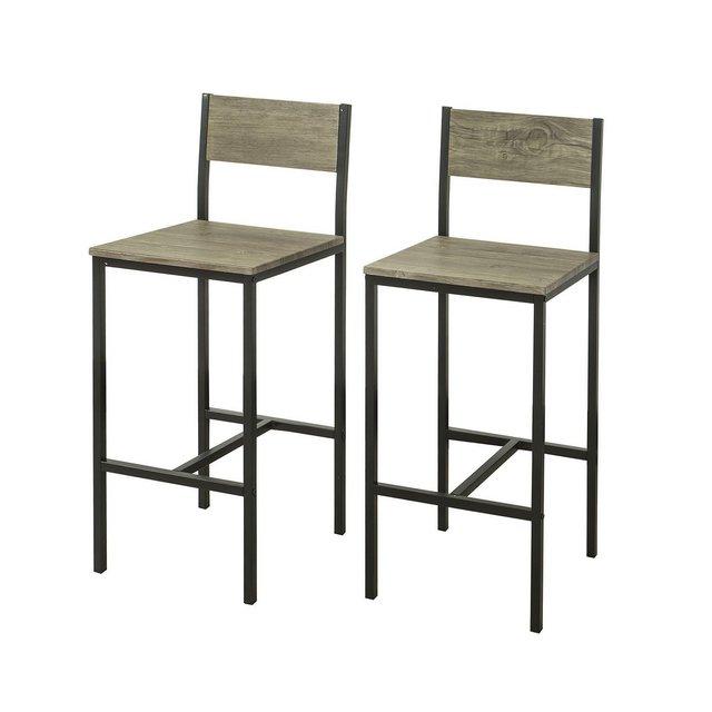 2 x Sedie Metallo da Bar Sgabelli cucina mobili da Balcone con poggiapied