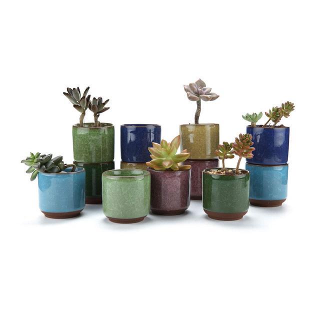 65CM Set of 12 Ice Crack Zisha Raised Serial Ceramica Vaso di Fiori Pianta Succulente Cactus Vaso di Fiori Giardino i vasi di Fiori vasi di Piante