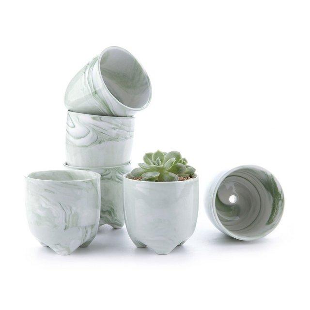6CM Set of 6 Gelato Serial Moder Ceramica Vaso di Fiori Pianta Succulente Cactus Vaso di Fiori Giardino i vasi di Fiori vasi di Piante