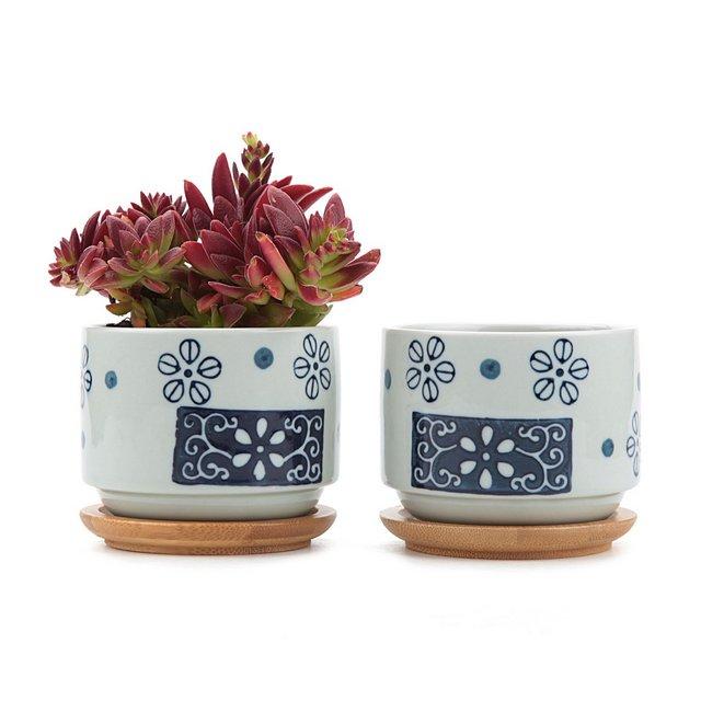 75CM Set of 2 Stile Giapponese Seriale No1Ceramica Vaso di Fiori Pianta Succulente Cactus Vaso di Fiori Giardino i vasi di Fiori vasi di Piante