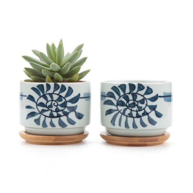 75CM Set of 2 Stile Giapponese Seriale No8Ceramica Vaso di Fiori Pianta Succulente Cactus Vaso di Fiori Giardino i vasi di Fiori vasi di Piante
