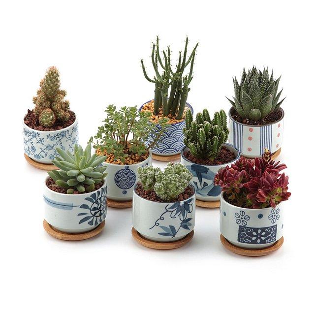 75CM Set of 8 Stile Giapponese Seriale Ceramica Vaso di Fiori Pianta Succulente Cactus Vaso di Fiori Giardino i vasi di Fiori vasi di Piante