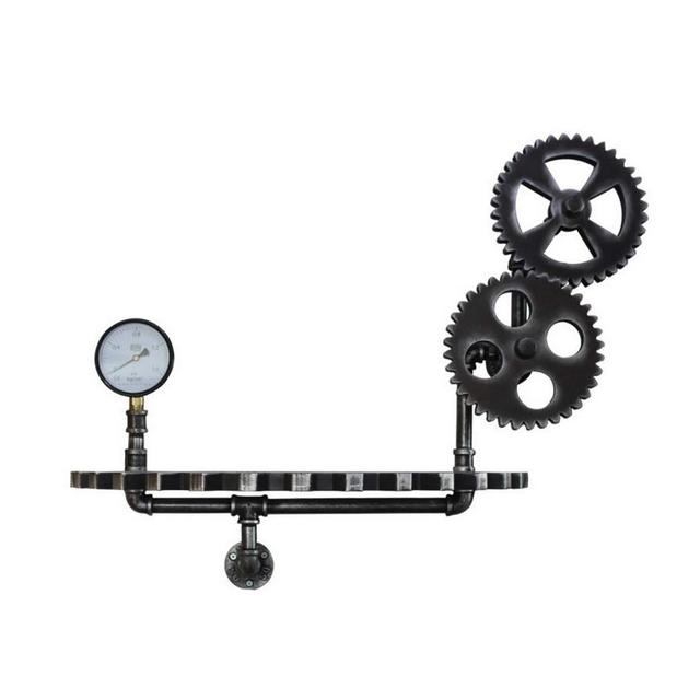 A Parete Gear Creativo Cremagliera Industriale Vento Casa Ferro Battuto Display Stand 76 × 30 × 58 Centimetri Ciondolo Decorativo