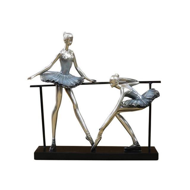 AXIANNV Statua Creativo Balleri Statua Resi Balleri Fatta A Mano Balletto Scultura Esercizio Sala Decor Ferro Arte e Mestieri Ormento PresenteMulticoloreM