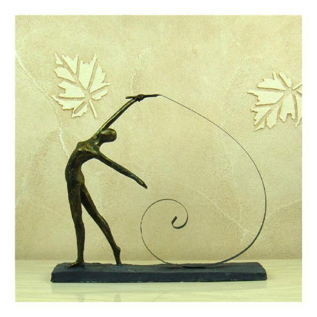AXIANNV Statua Ginstica Ragazza Figura Scultura Resi Astratta Calisthenics Statuetta Sport Premio Decor Ferro Arte e Artigiato Ormento Accessori Stile AM