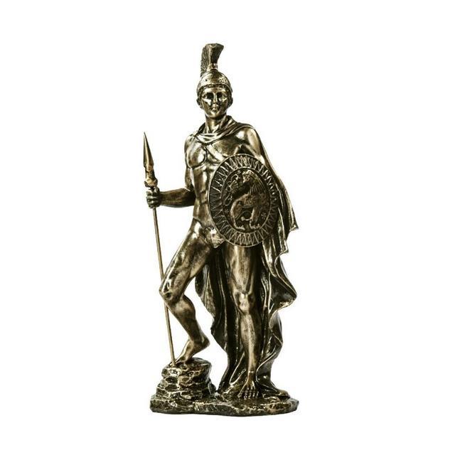 AXIANNV Statua Scultura in Resi Fatta a Mano Statua Combattente Persoggio del Film Decorazione Ormento Artigiale AccessoriRame AnticoM