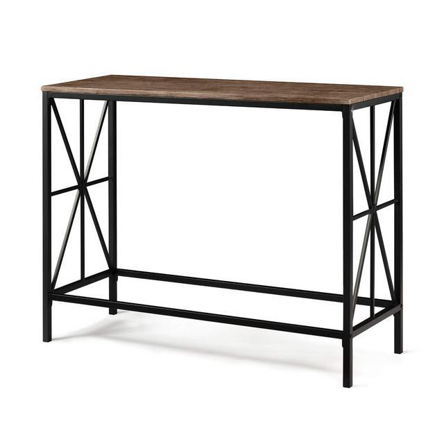 Aingoo Tavolino a consolle in Stile Industriale Tavolino da Ingresso in Metallo XDesign per Il Salotto 100 * 38 * 805 CM