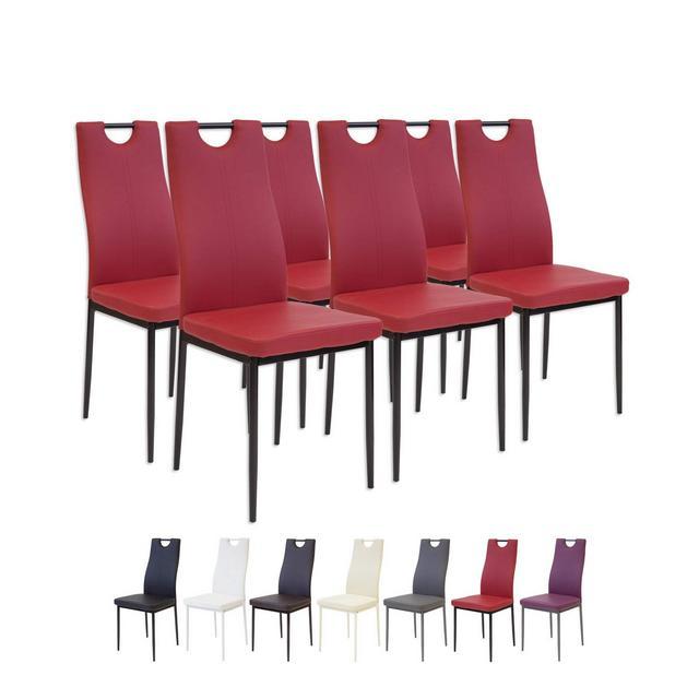 Albatros 2918 SALERNO Set di 6 sedie da pranzo rosso