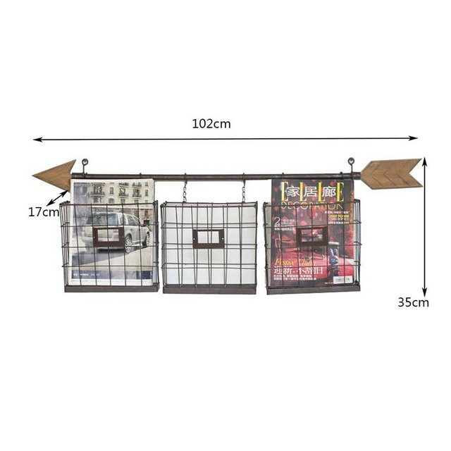 American Retro Bagno Mensola a muro Racks Living Bar Bar Arrow Magazine Giorle Rack Wall Decoration Rack ciondolo decorativo
