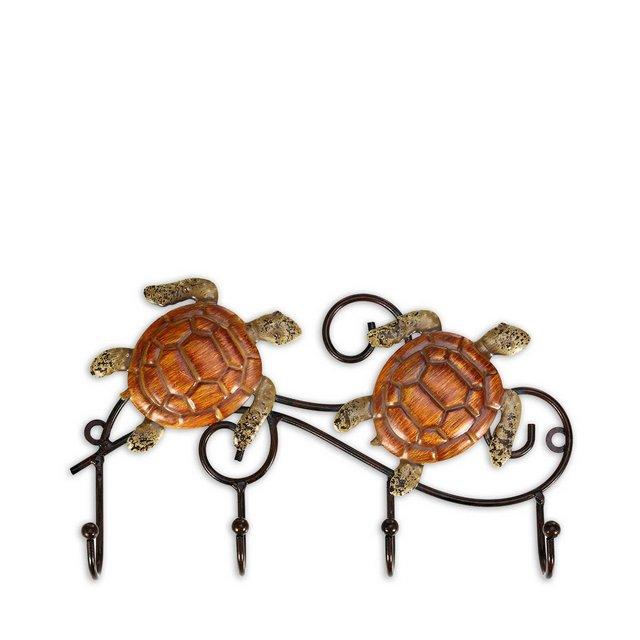 Appendino da parete in ferro Design vintage con 4 ganci Cappotti Keys Borse Appendiabiti Idea regalo decorativa da parete