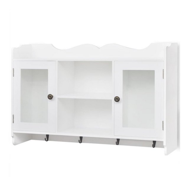 Armadietto sospeso porta DVDLibriOggetti libreria parete MDF Bianco