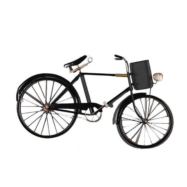 Bar Cafe Decoration Biciclette Ferro Battuto alla Casa Retro Decorazione della Parete 90 × 51 × 25cm Ciondolo Decorativo