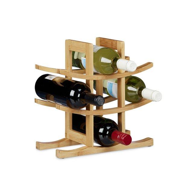 Cantinetta per Vino 9 Bottiglie Legno Marrone 145x30x30 cm