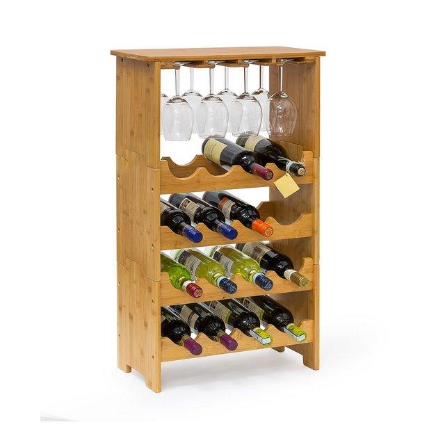Cantinetta per Vino Metallo Marrone 24x50x84 cm