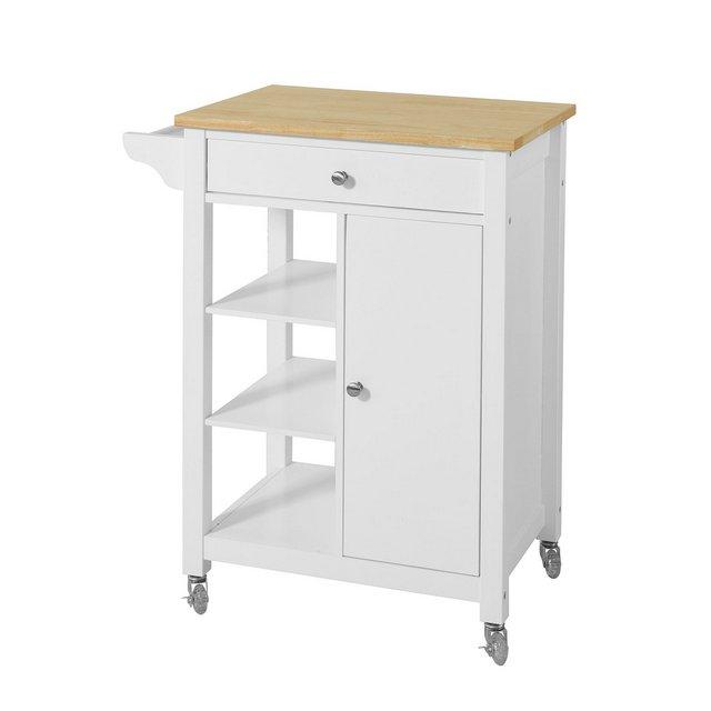 Carrello di servizio Credenza in legno mobile cucina bianco FKW46WNIT