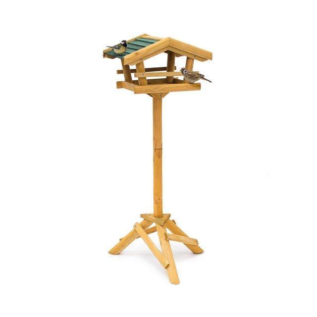 CasettaVoliera per Uccelli con Supporto per GiardinoAmbienti Esterni Marrone 43x37x100 cm