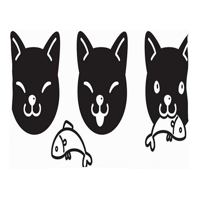 Cat Icon Kitten Calico Mangiare Animali Fau Selvatica Cuscino per Cuscini per Animali Fodere per Cuscini in Lino di Cotone Federe per federe