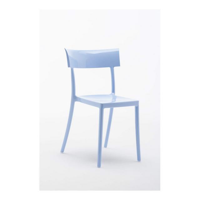Catwalk Sedia Policarboto 53x81x545 cm Set di 2 Sedie Blu