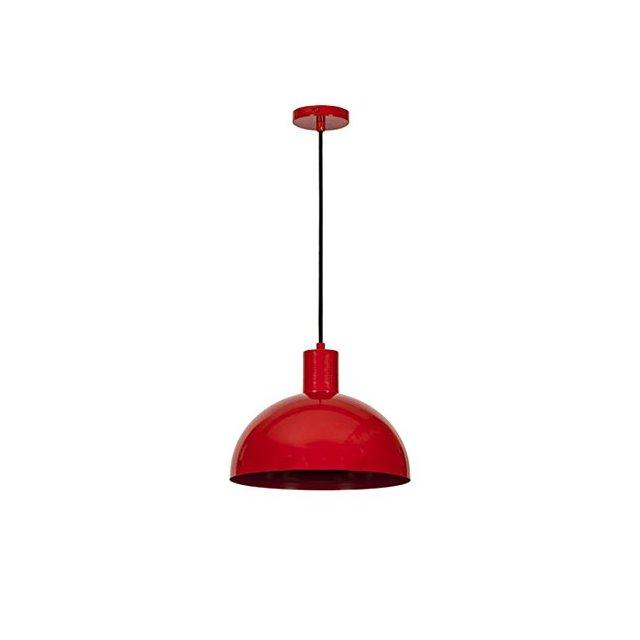 Colorful Lampada a Sospensione Metallo Rosso 30 x 27 cm Cavo 110 cm 46 unità