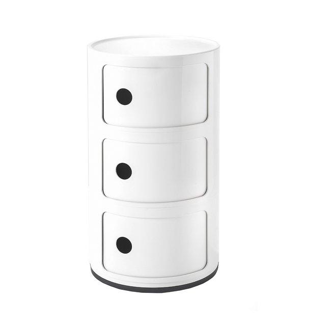 Contenitore Componibile Plastica Bianco 32 x 32 x 58 cm