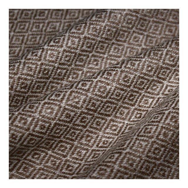 Coperta di la 100% cachemire copriletto copridivano o plaid elegante e comoda colore marrone e bianco