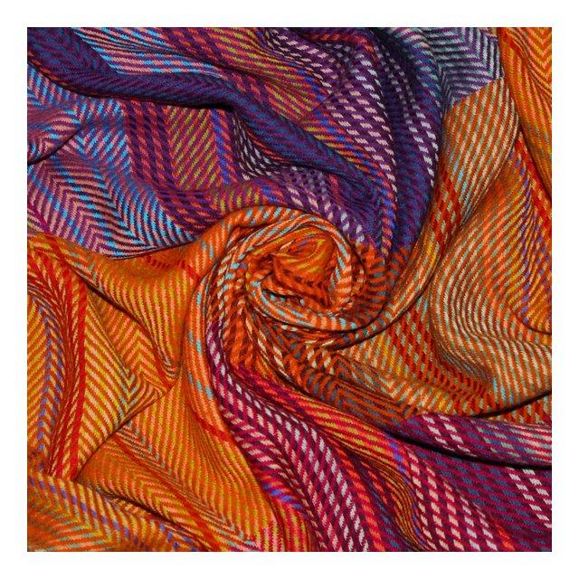 Coperta in La 100% La–Copriletto Copriletto copridivano o Plaid–Confortevole in Arancione Viola Rosso Giallo