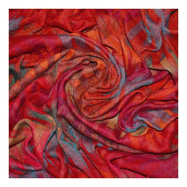 Coperta in La 100% La–Copriletto Copriletto copridivano o Plaid–Confortevole in Viola Rosso Arancione Rosa Blu