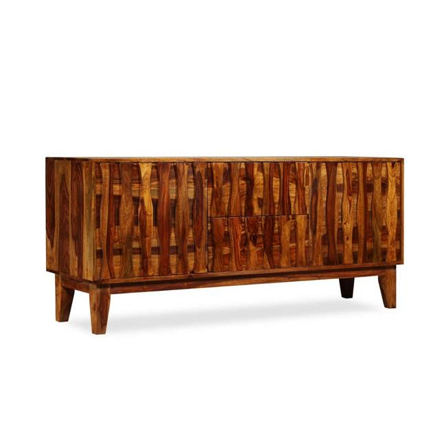 Credenza in Legno Massello di Sheesham 160x45x70 cm Mobiletto Porta TV