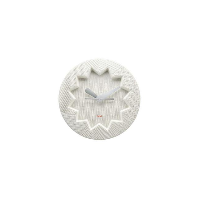 Crystal Palace Orologio da Parete in plastica Bianco 34 x 4 x 34 cm