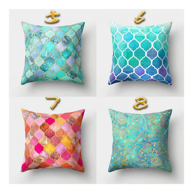Cuscino del Divano 4 Pezzi di Cuscino Creativo per La Casa Cuscino per Ufficio Velluto Color PescaStile Due_Federa 45 * 45 Cm