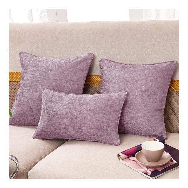 Cuscino del Divano Cuscino in Puro Colore Misto Cuscino per Divano Cuscino Reclibile per UfficioViola Chiaro_30 * 50 Cm Federa Anima del Cuscino