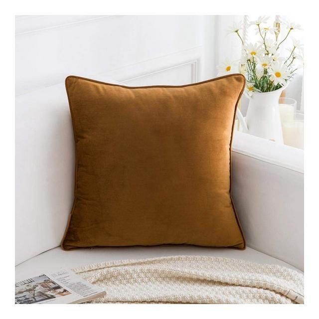Cuscino del Divano Federa per Cuscino in Tinta Unita Rivestita con Cuscini in Vellutocaffè_Federa 45 * 45 Cm