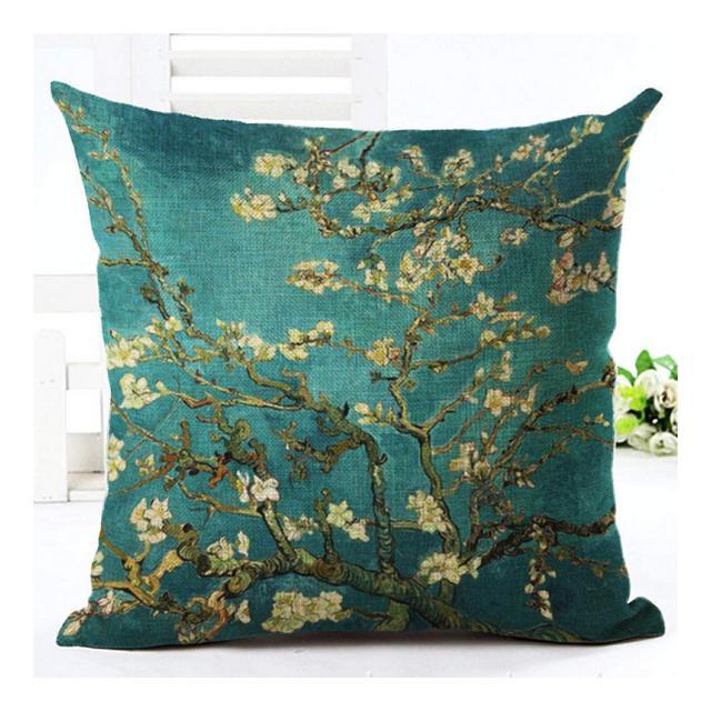 Cuscino del Divano Fodera per Cuscino in Cotone E Lino Bodhi Blossom SeriesA15_Federa 45 * 45