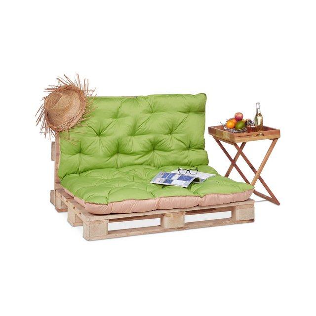 Cuscino per Pallet da Giardino Imbottitura per bancali pedane Trapuntato con Schiele Verde