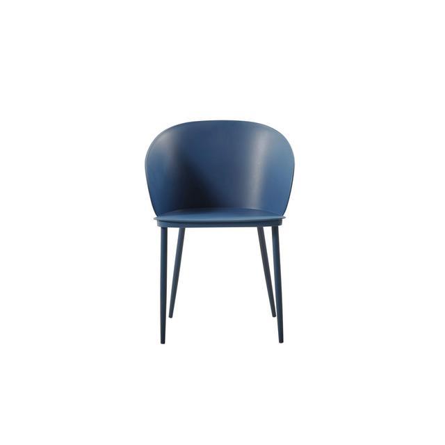 Dalis Sedia Polipropilene Blu Scuro 56 x 805 x 55 cm Set di 2