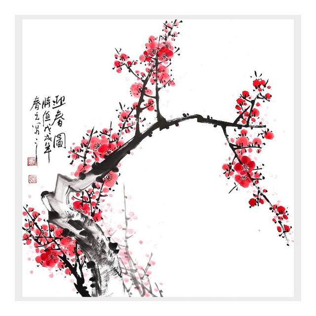 Decorazione Murale Arte Cinese Tradiziole Primavera Home Decor Cinese Pittura A Inchiostro Cinese Wall Art Hanging Art