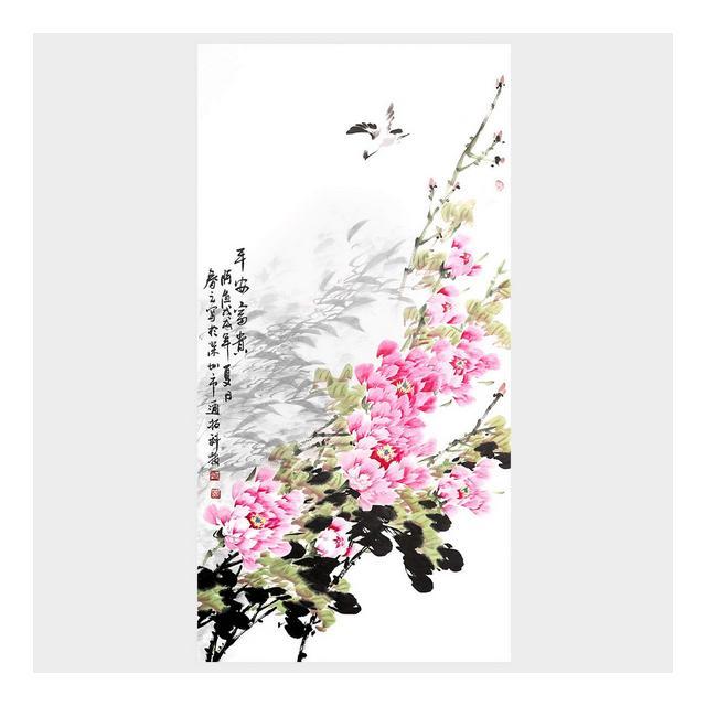 Decorazione Murale Decorazione della Parete del Fiore della Peonia Decorazione di Arte Pittura Cinese Tradiziole del Salone Decorazioni della Foto di Arte della Camera da Letto