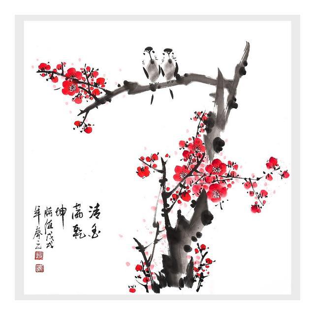 Decorazione Murale La Fragranza della Pittura Cinese Tradiziole Ha Permeato La Decorazione di Arte della Parete di Cielo E Terra per La Camera da Letto del Soggiorno