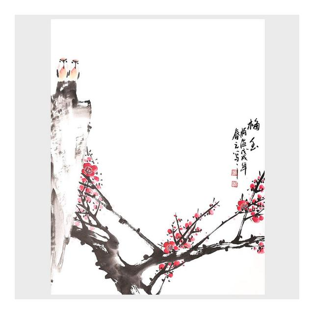 Decorazione Murale Pittura Cinese Tradiziole Plum Blossoms Fragranza Modern Home Decor Wall Art for Living Room Bedroom