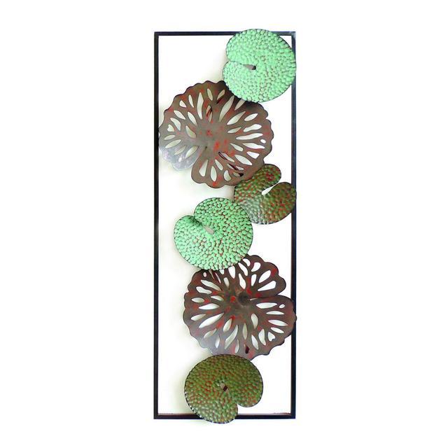Decorazione da Parete Dahlia Multicolore in Metallo per Soggiorno Ufficio Camera Muro Arte Casa Decoro Dimensioni Prodotto L311xP51xA895 cm