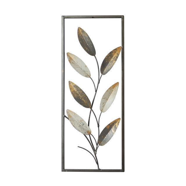 Decorazione da Parete Ivy Multicolore in Metallo per Soggiorno Ufficio Camera Muro Arte Casa Decoro Dimensioni Prodotto L203xP25xA508 cm