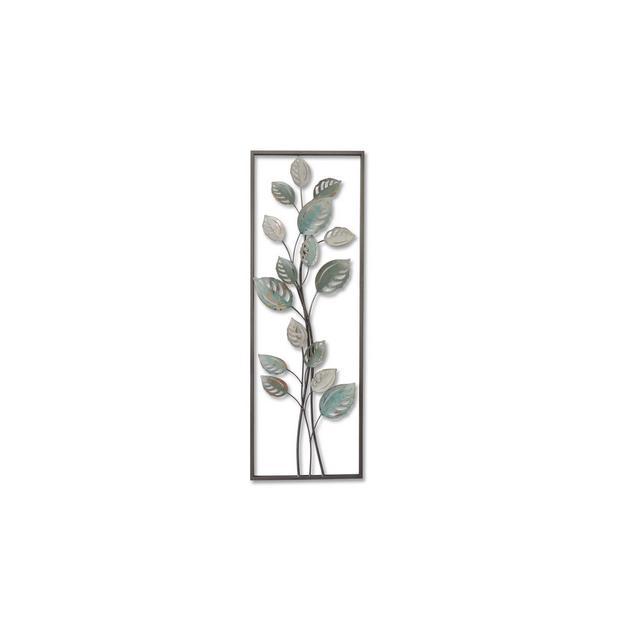Decorazione da Parete Ivy Multicolore in Metallo per Soggiorno Ufficio Camera Muro Arte Casa Decoro Dimensioni Prodotto L311xP44xA895 cm