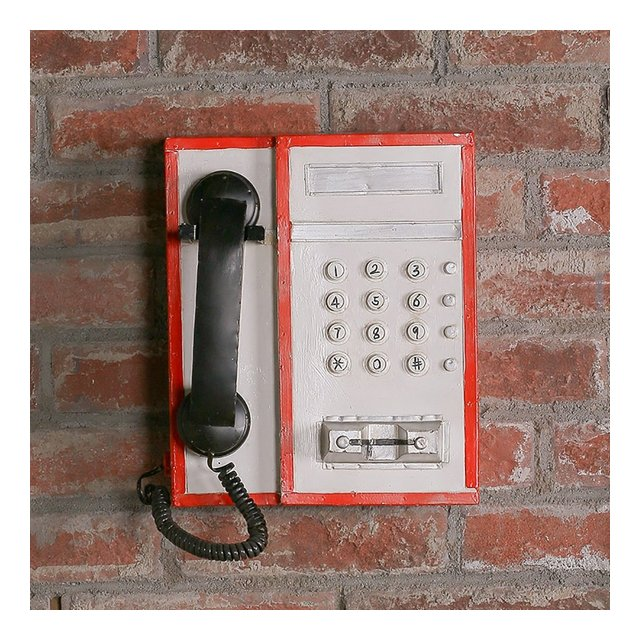 Decorazione da parete LOFT Retro Street Card Telefono Modello UK Style Coffee Tea Street Idea Decorazione da parete ciondolo decorativo