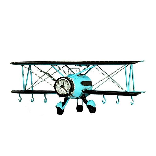 Decorazioni Retro Aeroplano Orologio da Parete a Parete Bar Cafe Ferro Battuto Orologio Creativo Decorativo Ciondolo Decorativo Color A